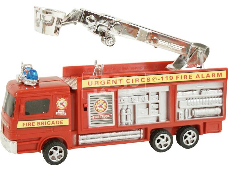 Kosaras tűzoltóautó fénnyel - 21 cm