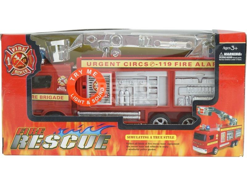 kép nagyítása Kosaras tűzoltóautó fénnyel - 21 cm