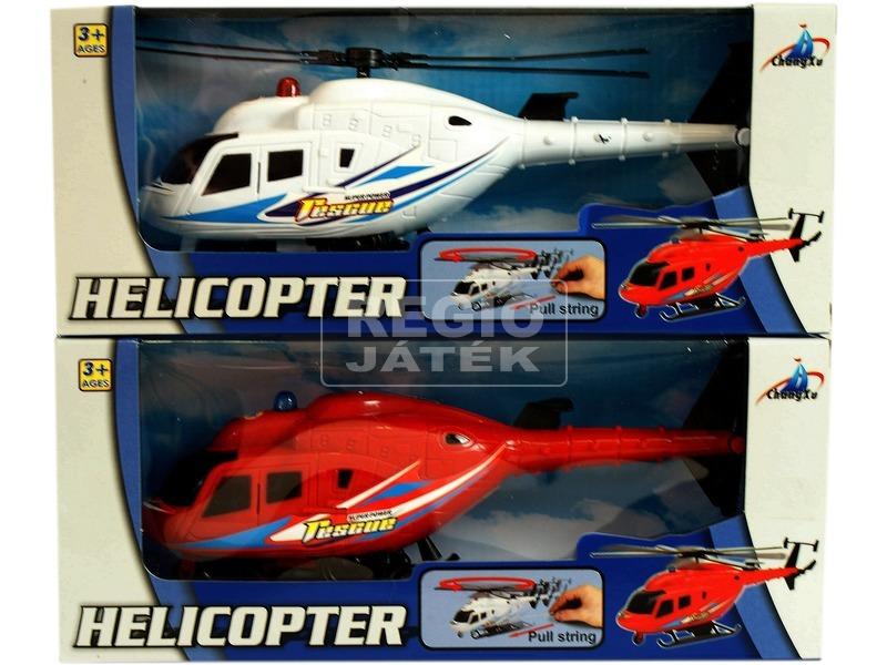 kép nagyítása Műanyag felhúzós helikopter - 22 cm, többféle