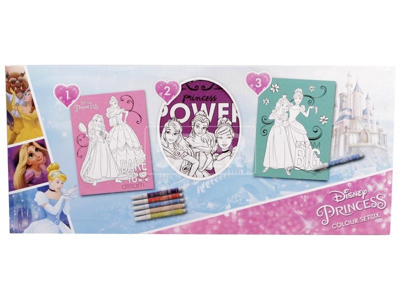 Hercegnős csillogós színezőszett 3 db /csomag