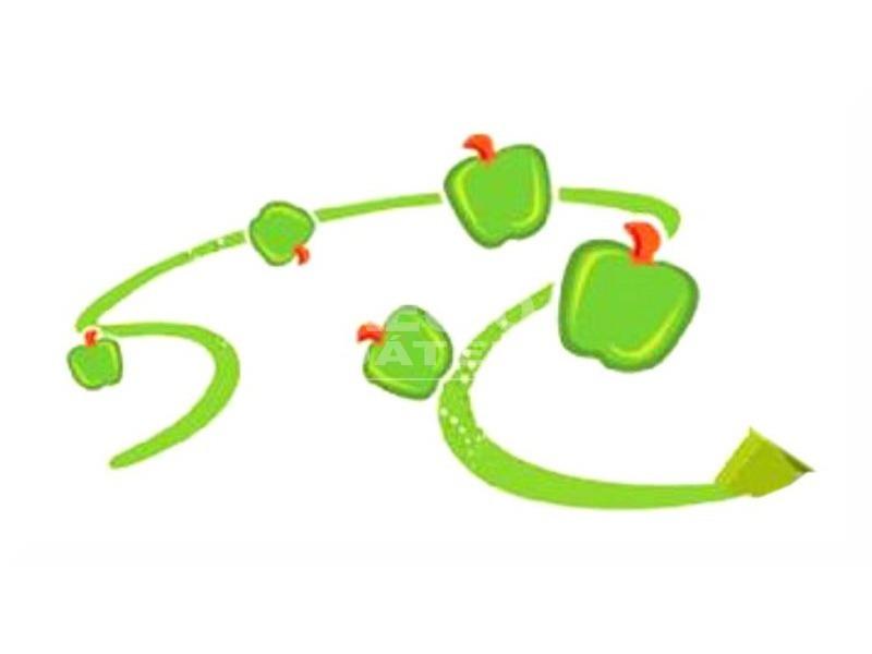 kép nagyítása Scentos vastag filctoll zöldalma illattal