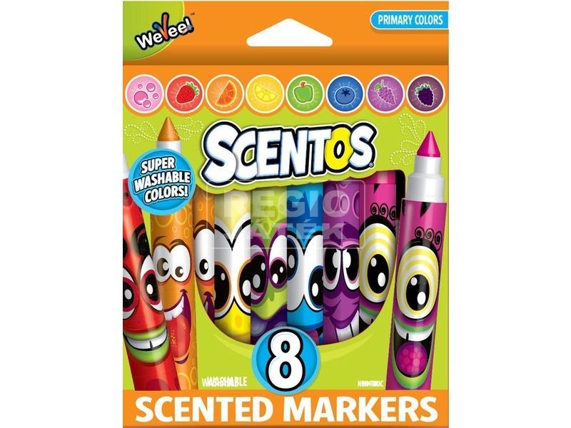 Scentos filctoll 8 darabos készlet - élénk színek