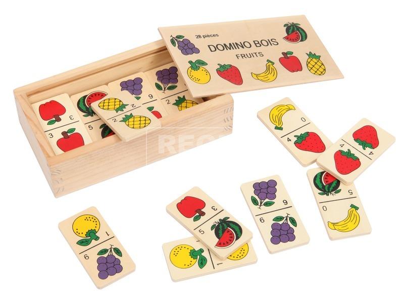 Fa gyümölcsös dominó készlet