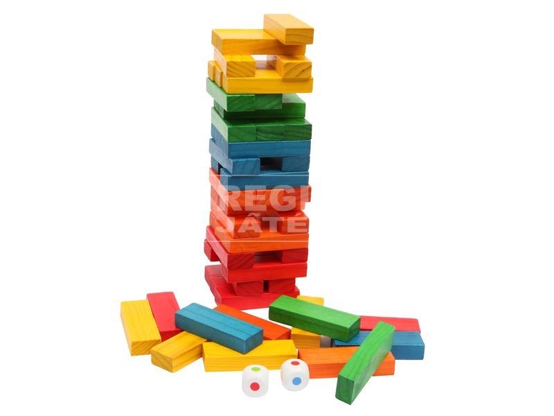 Fa toronyépítő 54 darabos készlet