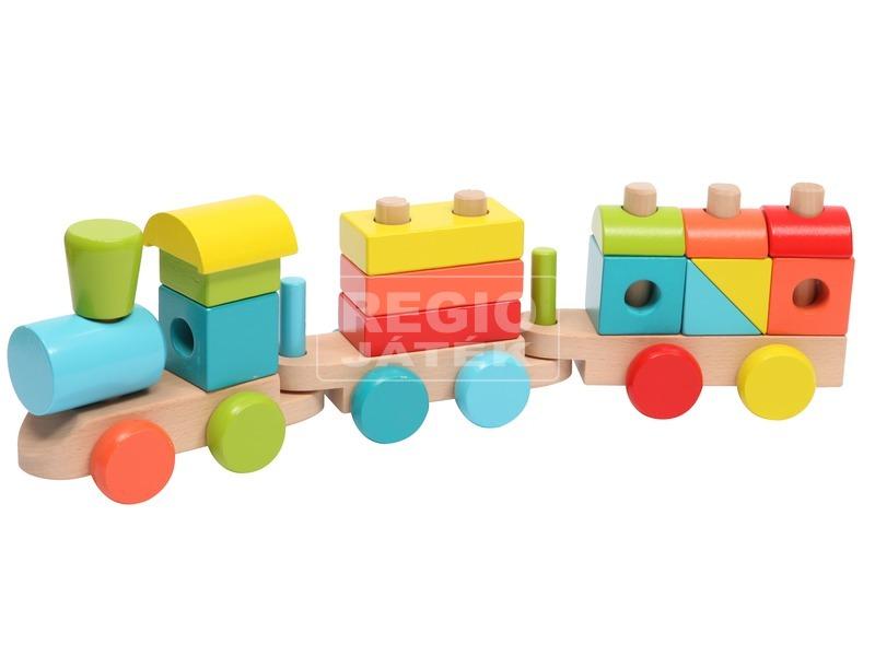 Fa vonat 14 darabos készlet