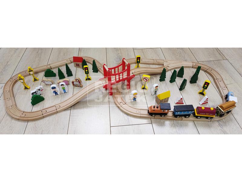 Fa vonat 70 darabos készlet
