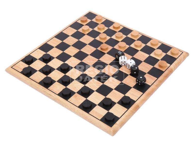 Fa sakk készlet - 30 cm