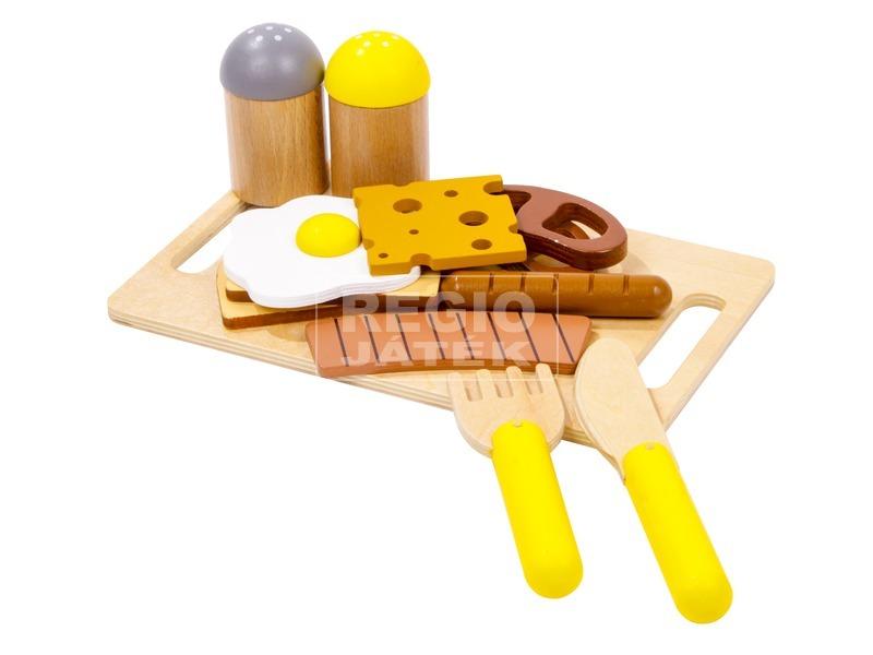 Fa reggeliző vágható készlet