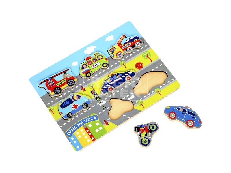 Fa járműves puzzle