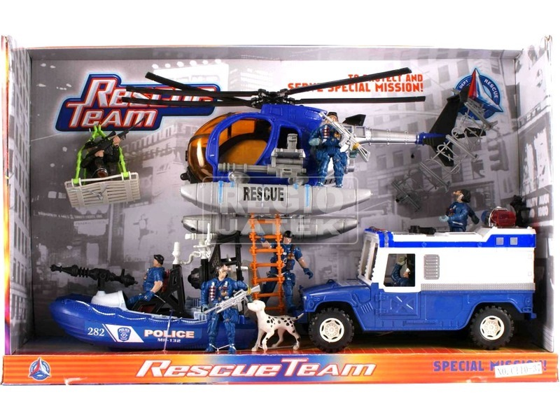 Rendőrségi jármű és figura készlet