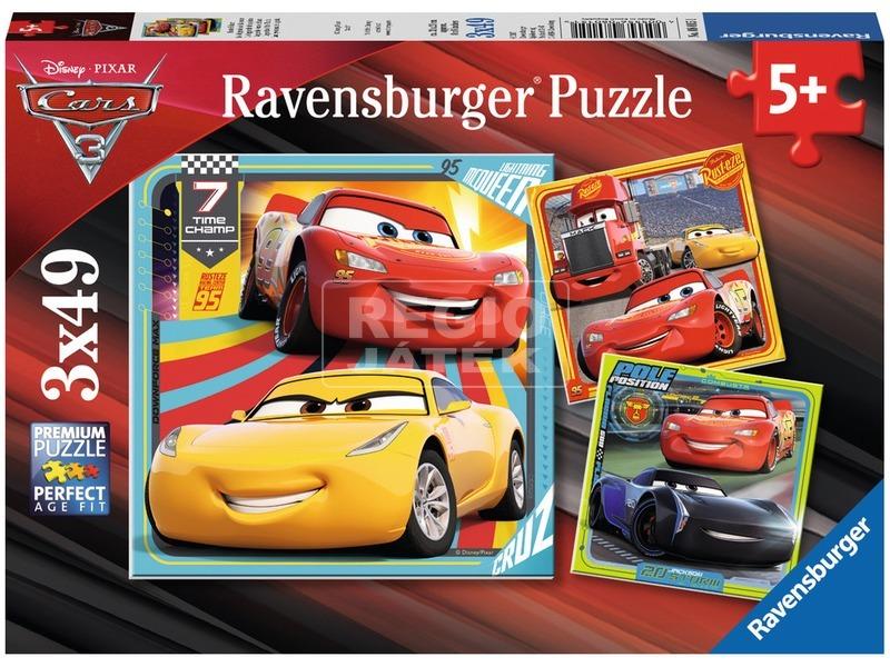 Verdák 3 - 3 x 49 darabos puzzle