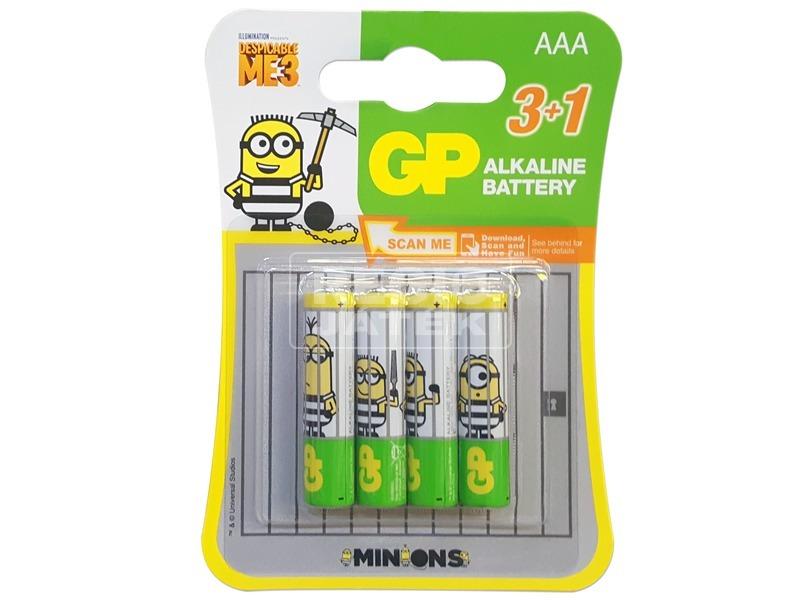 GP Minions alkáli elem LR03AAA