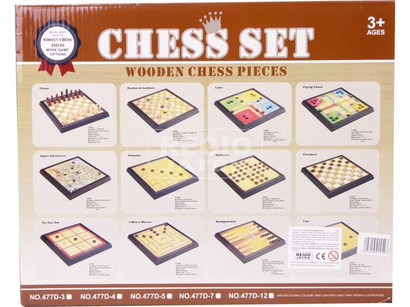 kép nagyítása 5IN1 Fa sakk