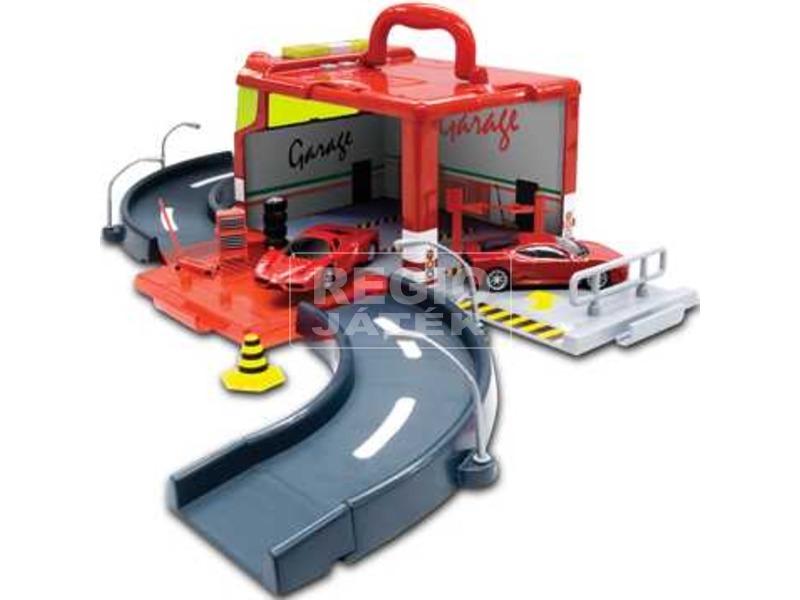 Burago Ferrari Race & Play garázs kisautóval
