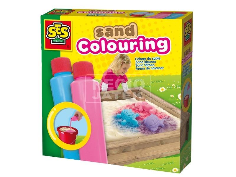 SES homokszínező - 2 x 200 ml, kék-rózsaszín