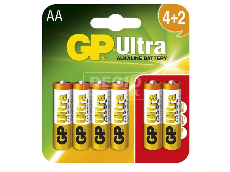 GP Ultra AA ceruzaelem 4 +2 darabos készlet