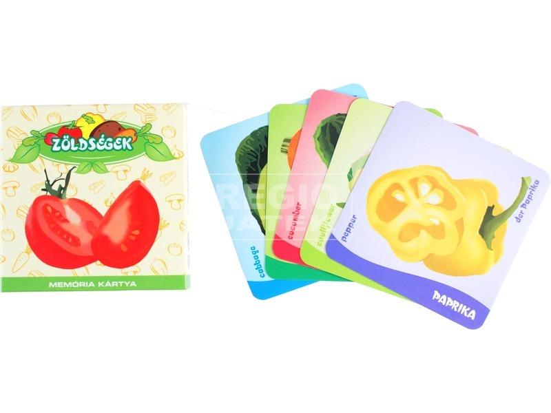 Zöldségek memória kártya