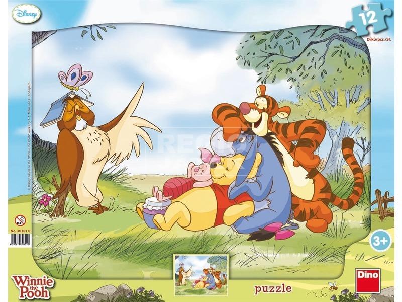 Micimackó 12 darabos keretes puzzle