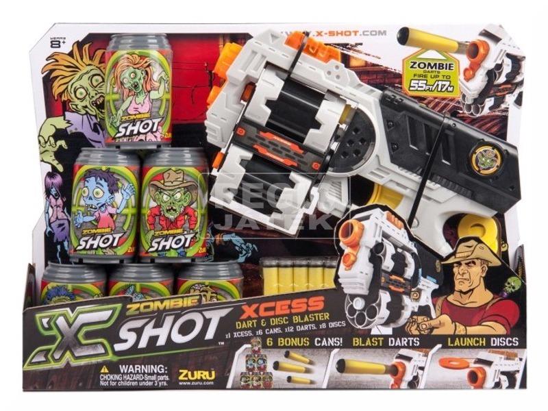 X-Shot Zombie forgótáras pisztoly készlet