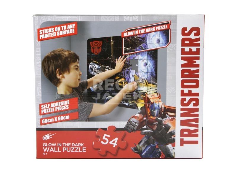 Transformers sötétben világító fali puzzle