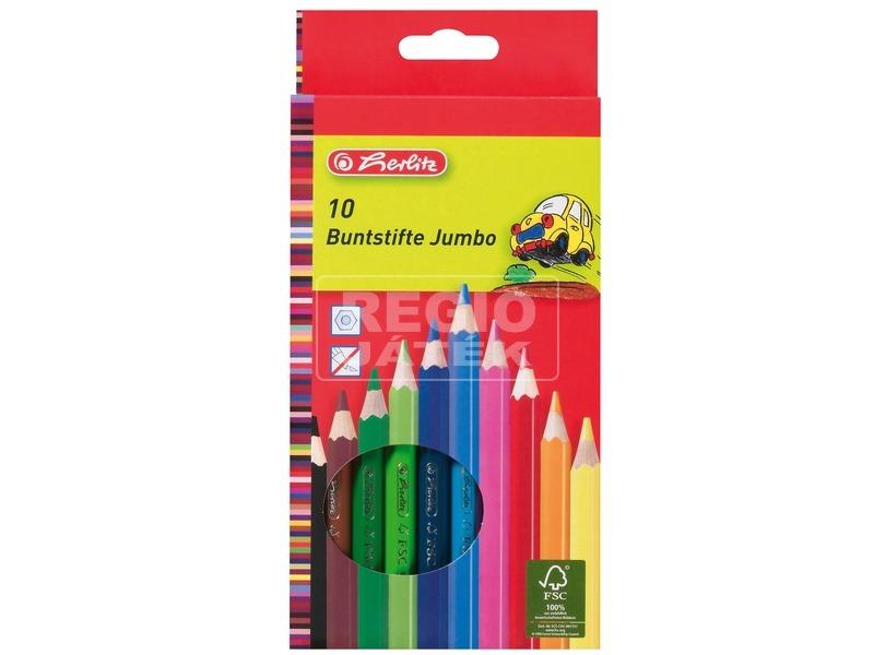 Vastag színesceruza 10 darabos