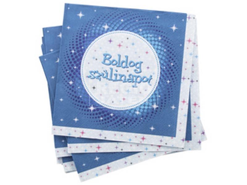 Boldog Születésnapot szalvéta - Kék 3333 FUN