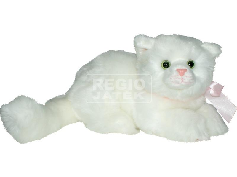 Fekvő cica plüssfigura - 23 cm