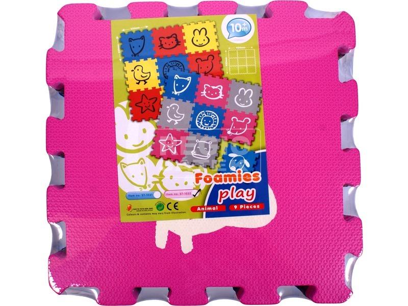 kép nagyítása Állatfigurák habszivacs 9 darabos puzzle - 32 x 32 cm