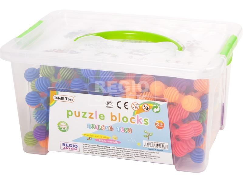 Műanyag építő 75 db. közepes dobozban