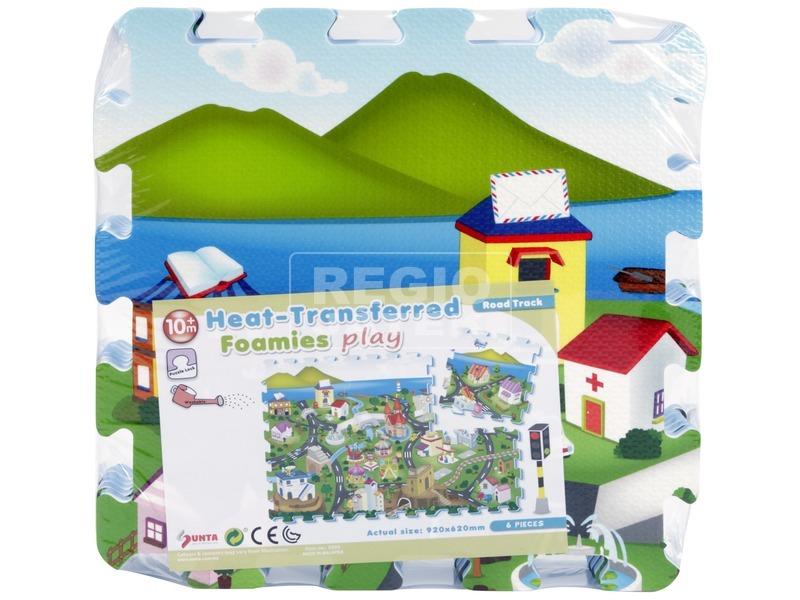 Habszivacs padló puzzle, város 6 darabos 3009