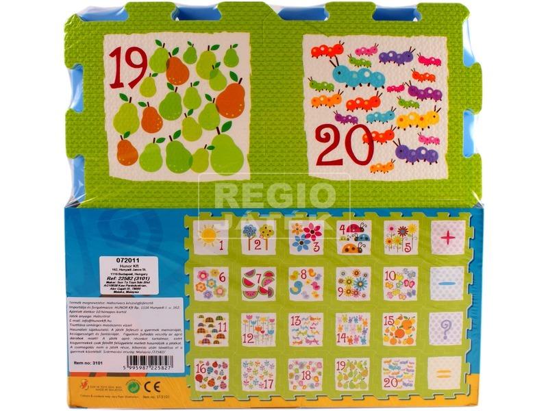 Számok 24 darabos habszivacs szőnyeg puzzle