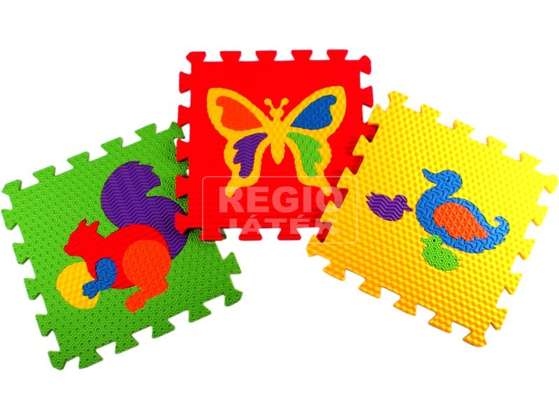 Állatfigurák habszivacs 10 darabos puzzle