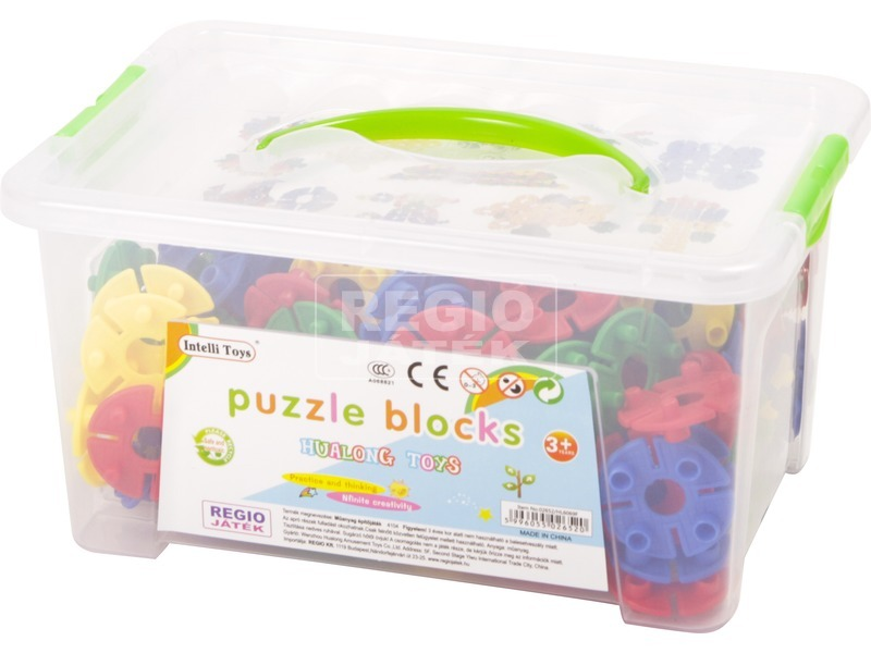 Műanyag építő 150 db. közepes dobozban