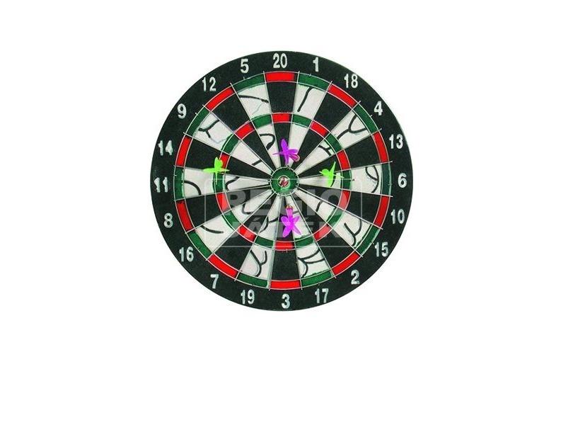 kép nagyítása Darts tábla 4 darab dobónyíllal - 28 cm