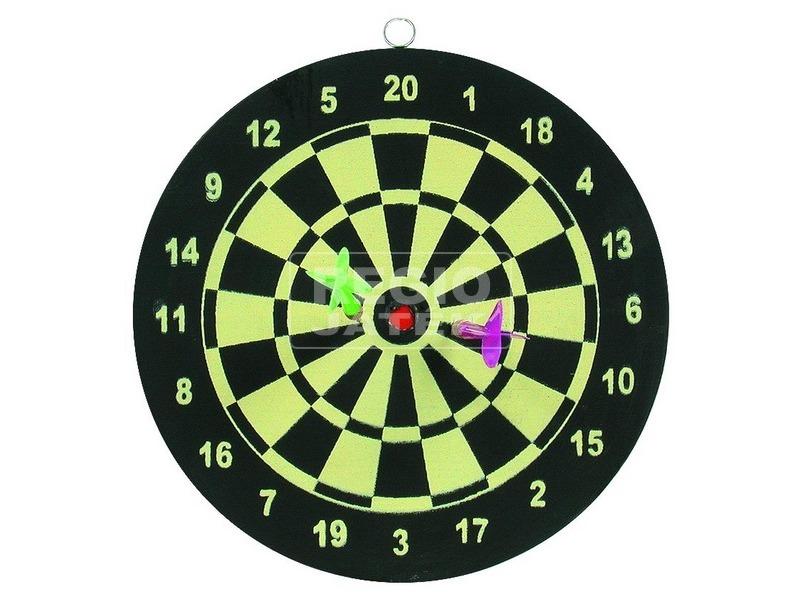 Papír darts 2 dobónyíllal