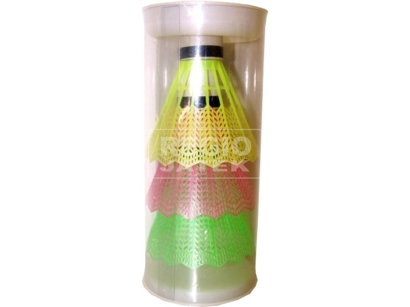 Színes tollaslabda 3 darabos készlet