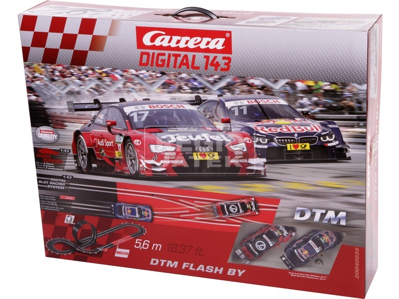 Carrera GO DTM Flash By digitális versenypálya