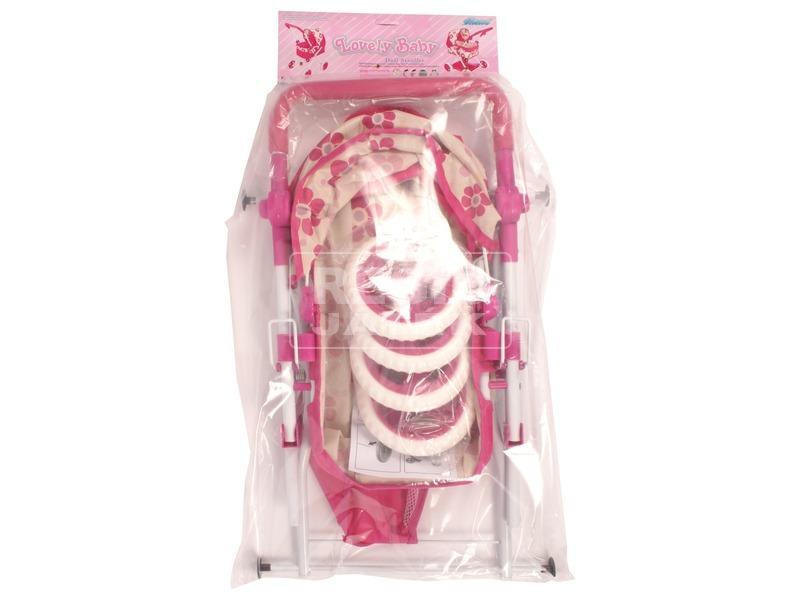 kép nagyítása Összecsukható babakocsi mózeskosárral - rózsaszín