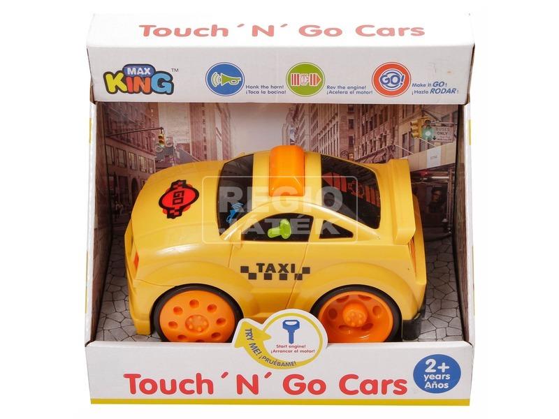 Műanyag bébi autó fénnyel és hanggal - sárga, többféle