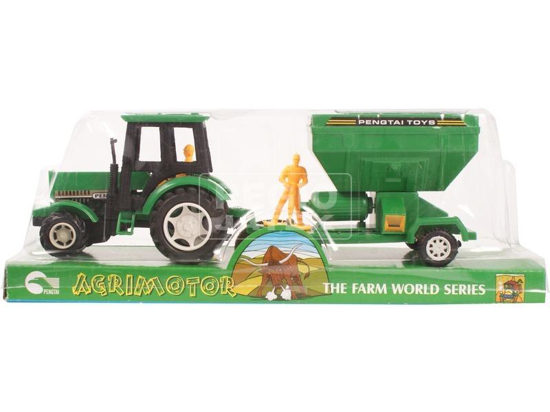 Lendkerekes farm traktor - 27 cm, többféle
