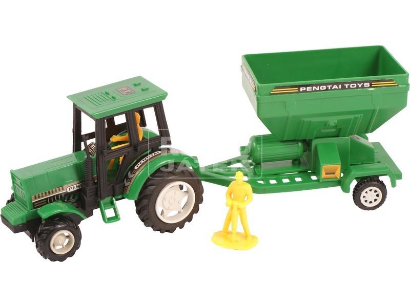 kép nagyítása Lendkerekes farm traktor - 27 cm, többféle