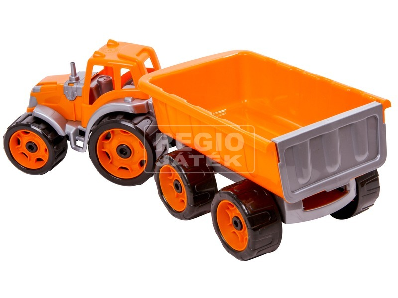 kép nagyítása Műanyag traktor utánfutóval - 53 cm