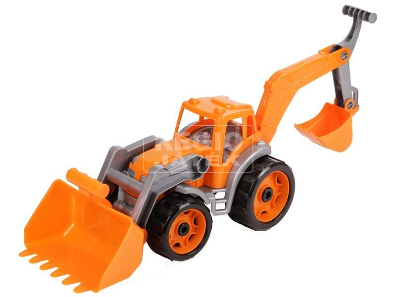Műanyag traktor markolókkal - 50 cm, többféle
