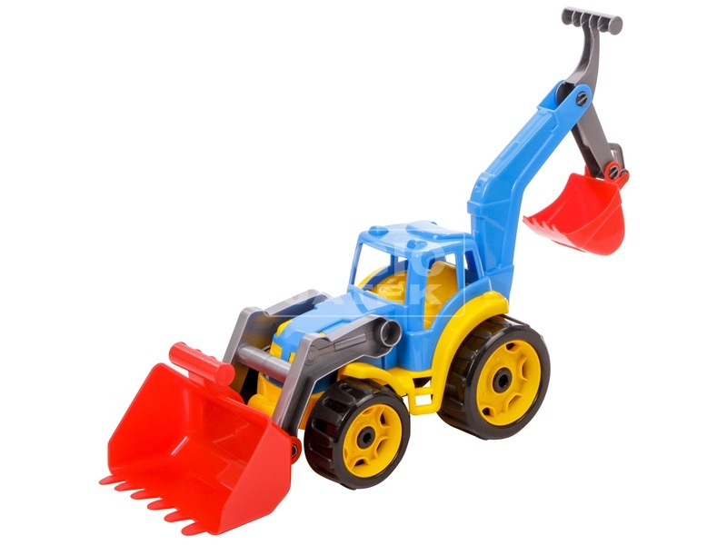 kép nagyítása Műanyag traktor markolókkal - 50 cm, többféle