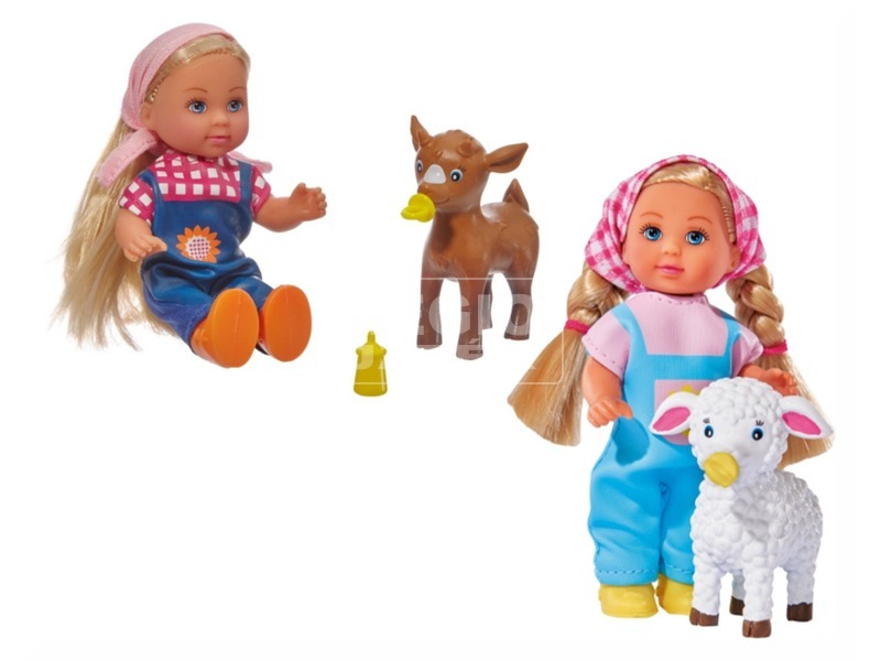 Evi Love Baby animal farm baba - 11 cm, többféle