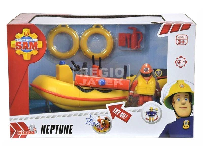 Sam a tűzoltó Neptun hajó figurával