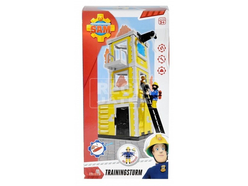 Tűzoltó Sam gyakorló torony Sam figurával