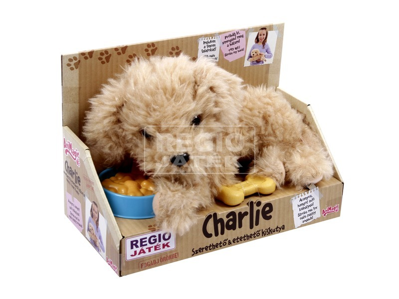 Animagic Charlie kutya interaktív plüssfigura - 22 cm