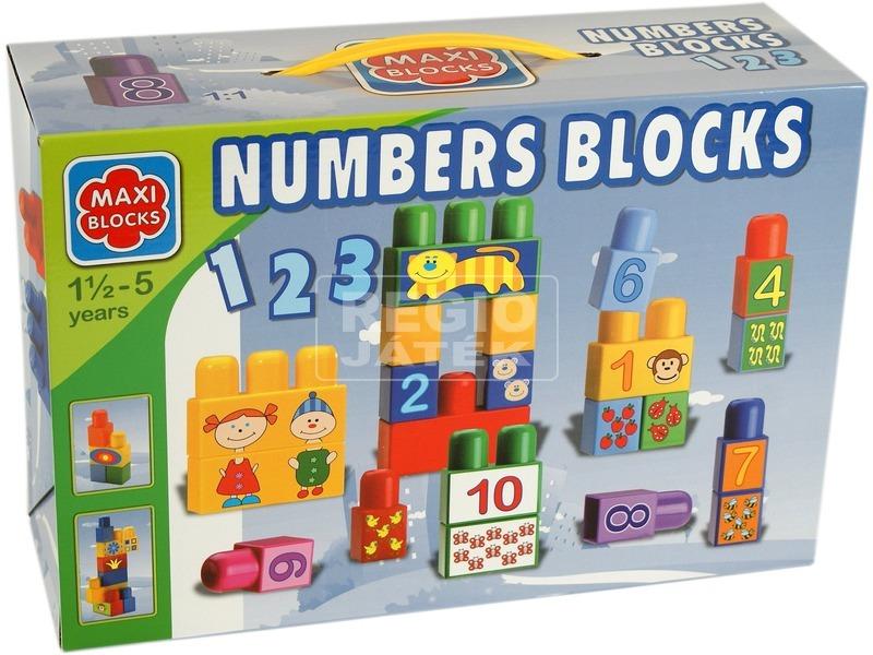 Maxi Blocks 18 darabos számos építőjáték
