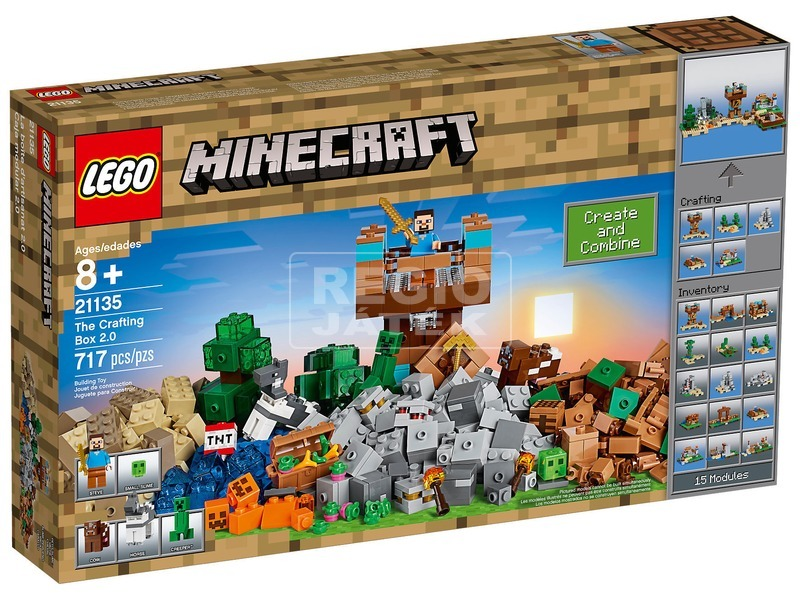 LEGO Minecraft 21135 Crafting láda 2. 0